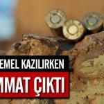 Erzincan'da TOKİ'nin temel kazma çalışmalarında çok sayıda mermiye rastlandı