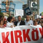 Ataköy Sahili'nde TOKİ protestosu