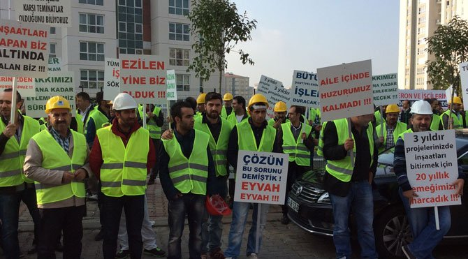 Konut işçileri isyan
