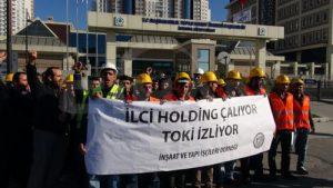 Sultanbeyli Devlet Hastanesi insaatinda calisan isciler