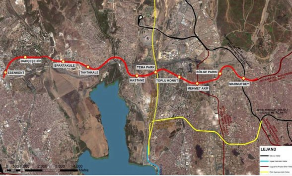 Mahmutbey Bahçeşehir Esenyurt metro
