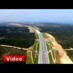 Kuzey Marmara Otoyolu havadan görüntüleri