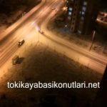 Kayaşehir'de Kar Yağışı Başladı