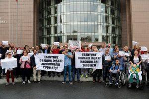 Konut mağdurları Esenyurt'ta eylem yaptı