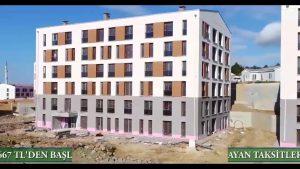 Toki Kayaşehir 605 Konutun Havadan Videosu