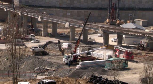 Başakşehir - Kayaşehir metro şantiyesinde